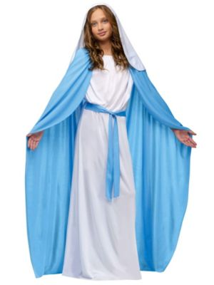 Girl's Deluxe White Mary Costume