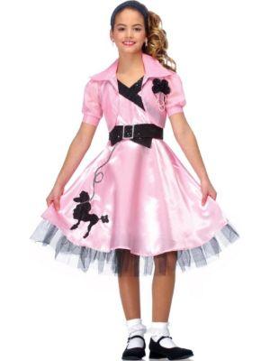 Sock Hop Diva Girls Pink Costume