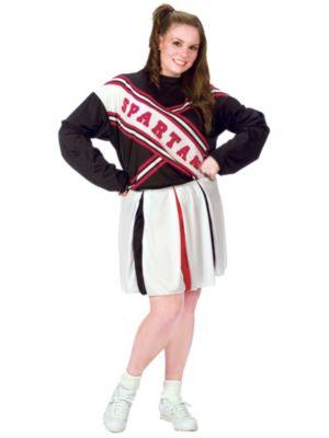 Adult Plus Size Spartan Cheerleader Costume