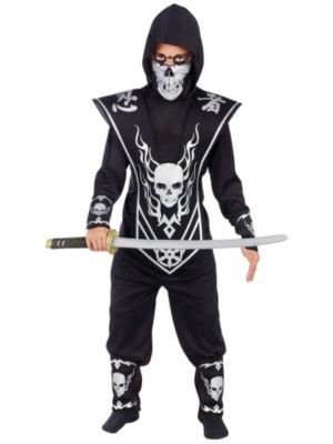 Child Silver Skull Lord Ninja Costume