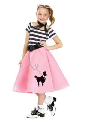 Child Poodle Dress With Scarf & Belt