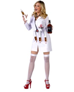 Sexy Dr. Shots Womens Costume