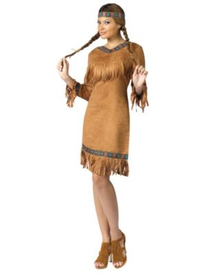 Adult Native American Fringed Costume