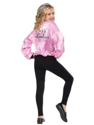 Child Pink Ladies Satin Jacket