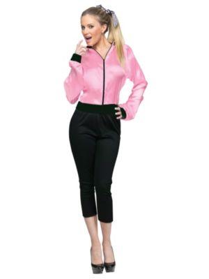 Adult Pink Satin Lady Jacket