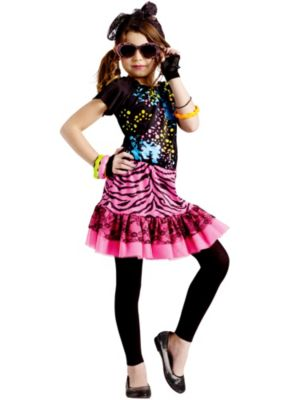 Girl's 80's Pop Party Costume