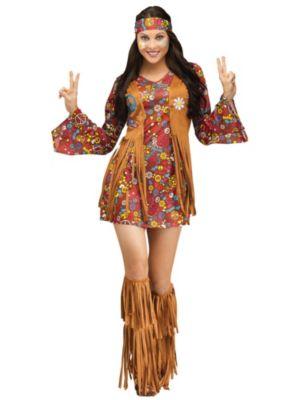 Sexy Adult Peace & Love Hippie Costume