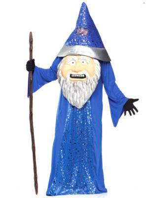 Adult Big Head Wizard Costume