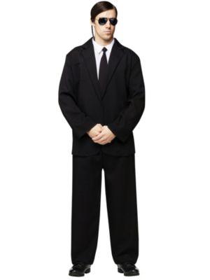 Adult Black Suit Costume
