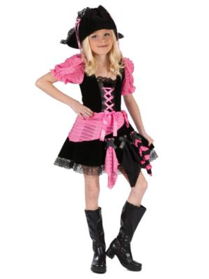 Pink Punk Pirate Costume Pink Punk Pirate Child Costume