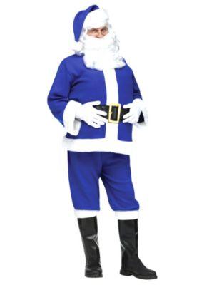 Blue Flannel Santa Adult Costume