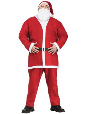 Adult Plus Size Pub Crawl Santa Suit Costume