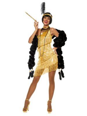 Adult Gold Flapper Dazzle Costume