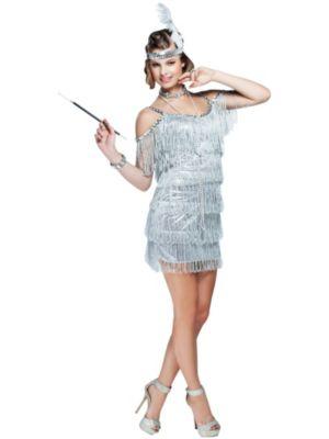 Sexy Adult Martini Flapper Costume