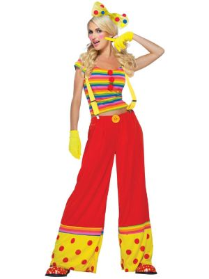 Sexy Adult Moppie The Clown Costume