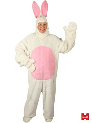 White Easter Bunny Suit With Mascot Head