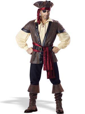 Elite Adult Rustic Pirate Costume