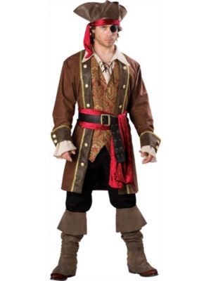 Adult Deluxe Captain Skullduggery Pirate Costume