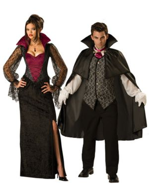 Midnight Vampiress Adult Couple Costume