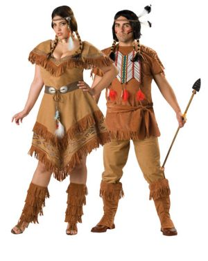 Indian Maiden Womans Plus Size Couples Costume