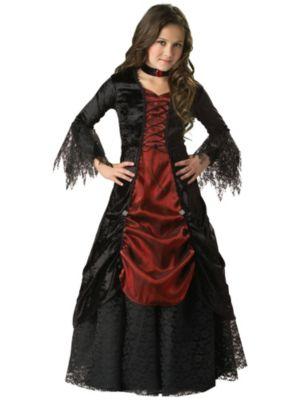 Easy Gothic Costumes Gothic Vampiress Kids Costume