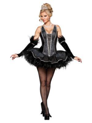 Elite Adult Sexy Seductive Black Swan Costume
