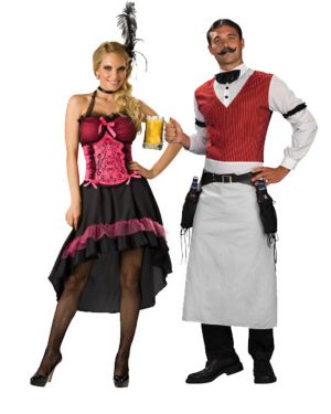 Adult Saloon Gal Couples Costume