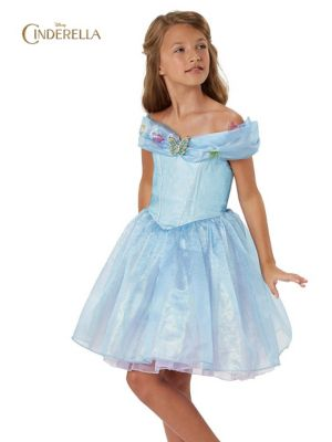 Girls Blue Cinderella Dress Costume