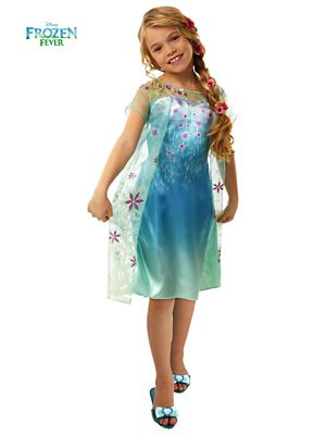 GIRL'S FROZEN FEVER ELSA COSTUME