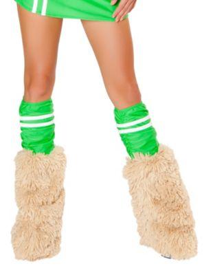 Women's Sexy Green Sporty Legwarmers