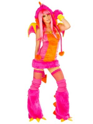 Sexy Deluxe Drag the Dragon Dress Women's Costume