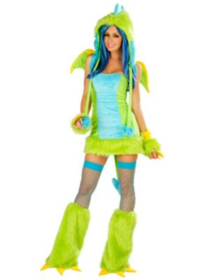 Deluxe Sexy Puff Dragon Dress Women's Costume