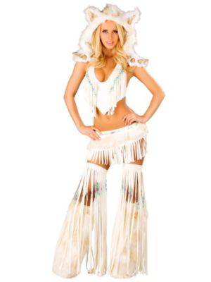 Adult Sexy White Indian Costume