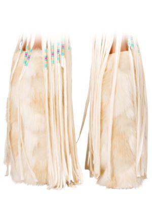 Women's White Indian Legwarmers