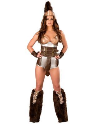 Adult Sexy Deluxe Trojan Romper Costume