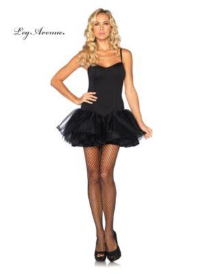 Adult Black Tutu Dress with Support Boning