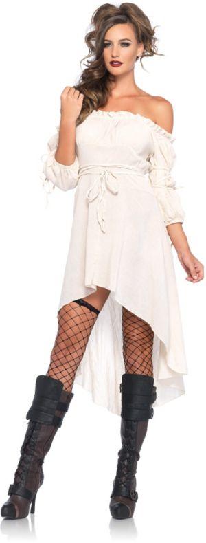 Sexy Adult Ivory Peasant Dress Costume