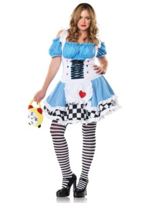 Plus Size Miss Wonderland Womens Costume