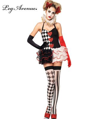 Sexy Adult Sweetheart Harlequin Clown Costume