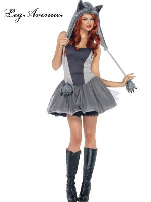 Sexy Adult Gorgeous Grey Wolf Costume