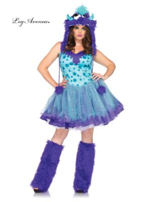 Sexy Adult Polka Dotty Monster Plus Size Costume