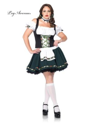 Sexy Adult Bavarian Beauty Plus Size Beer Girl Costume