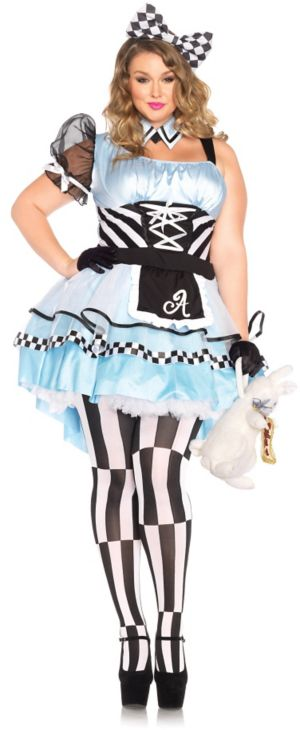Sexy Adult Psychedelic Alice Plus Costume