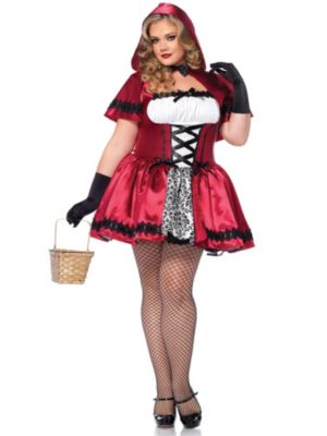 Sexy Gothic Red Riding Hood Adult Plus Costume
