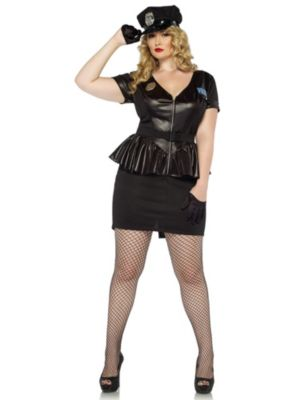 Sexy Traffic Stop Cop Adult Plus Size Costume