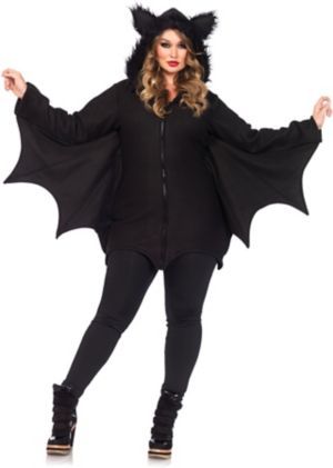 Sexy Adult Cozy Bat Plus Costume