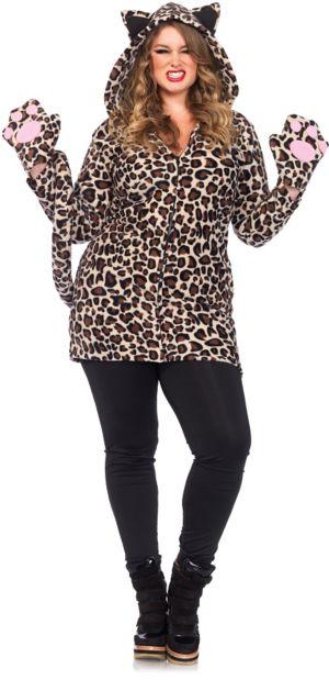 Sexy Adult Cozy Leopard Plus Costume