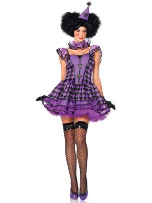 Sexy Pretty Parisian Clown Adult Costume