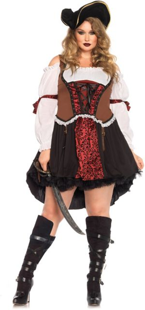 Sexy Adult Ruthless Pirate Wench Plus Costume