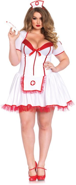 WOMEN'S SEXY SHAPER NURSE PLUS COSTUME
